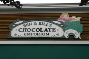 Ben and Bill's local Chocoalte emporium.