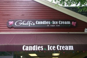 Ghelfi's candies and ice creams, located on Falmouth's Main Street.