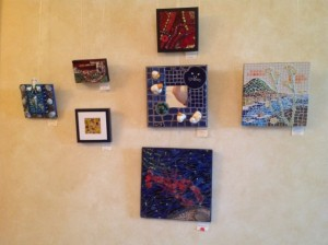 Small mosaic art work at Highfield Hall