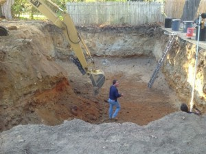 Excavation of Captain's Manor Inn Carriage House foundation is complete