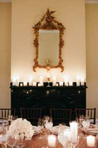 Wedding fireplace at The Captain's Manor Inn