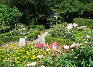 Gardens of the Museums on the Green in Falmouth Cape Cod