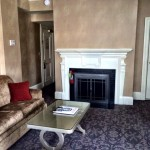 Boston Accommodations Lenox Hotel guestroom with fireplace