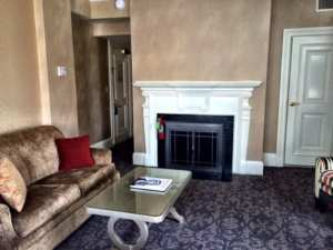 Boston Accomodations Lenox Hotel guestroom with fireplace