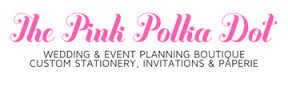 Logo for the Pink Polka Dot in Falmouth Village Cape Cod