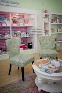 A special wedding boutique area within the Pink Polka Dot in Falmouth Cape Cod