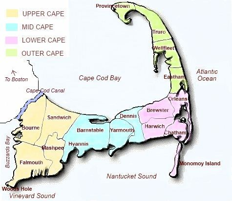 cape cod's best bed and breakfasts map of cape cod region
