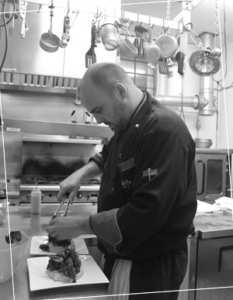 Fabio Pozzati chef at Osteria La Civetta