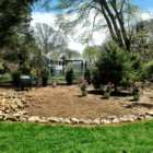 Landscape pre garden makeover Falmouth Village Blooming