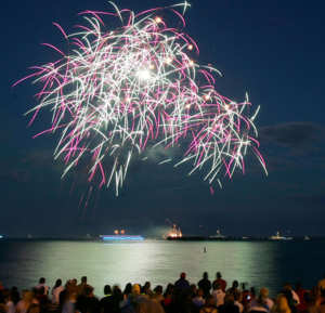 July 4th celebration fireworks