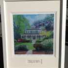 A color giclee print of the original oil painting of The Captain's Manor Inn by Karen Rinaldo