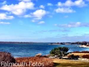 View from Nobska lighthouse on sunny day as featured in top ten cultural hotels in cape cod blog
