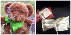 lavenderelly bear and lavender eye mask for captain's manor inn