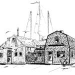 Jingle bell giclee painted at Karen Rinaldo Studio on Falmouth Harbor