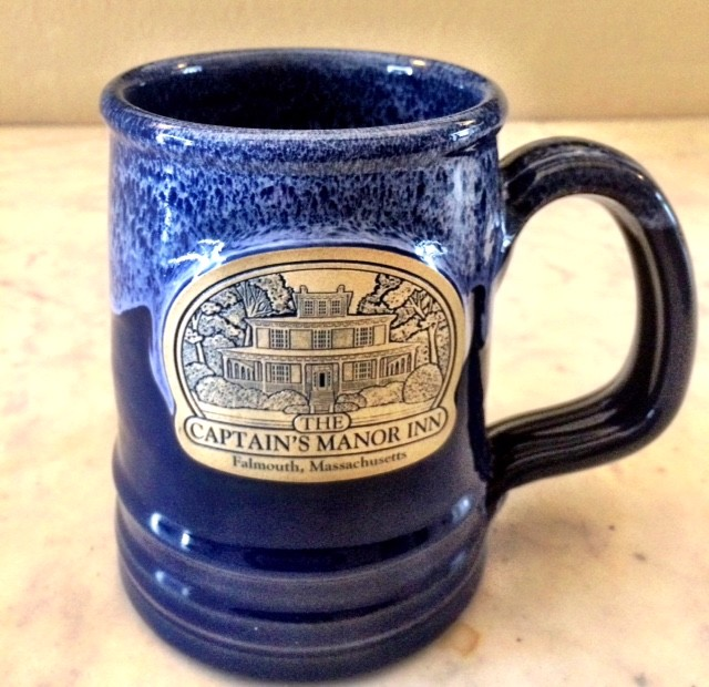 Blue custom tankard from Captains Manor Inn