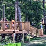 Picture of the beginning stairway to the Heritage Adventure Park