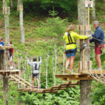 picture of the ropes course at heritage museum and gardens adventure park