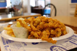 Winner of the best Fried Clams near me are  from Seafood Sam's