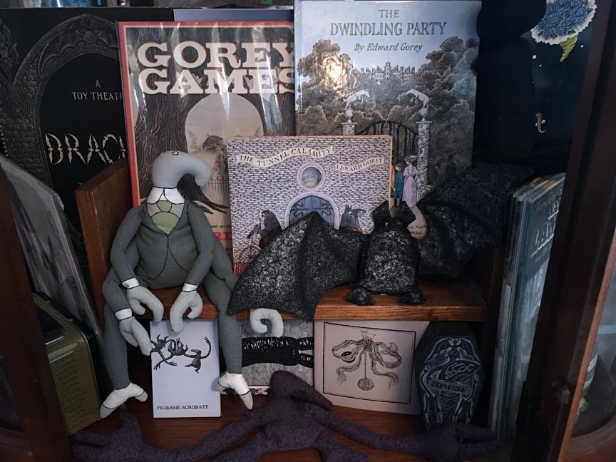 Edward Gorey books and dolls Edward Gorey House
