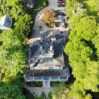 Aerial view of the Captians Manor Inn