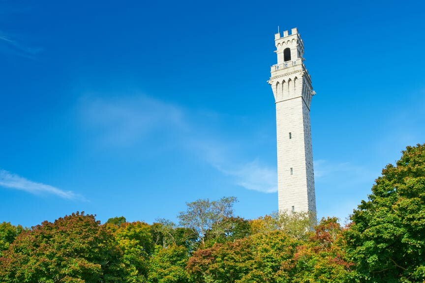 The Pilgrim Monument in Provincetown MA